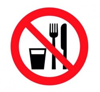 "Slika za prohibitiv sign ""food and drink prohibit"