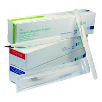 Slika za disposable scalpels,sterile,size 11,pack