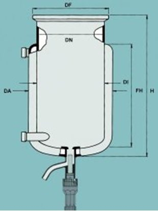 Slika za flat ground flange reaction vessels