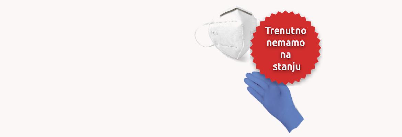 <h1>Obaveštavamo vas da trenutno nemamo na lageru zaštitne maske i rukavice.  </h1><p> Hvala na razumevanju!</p>